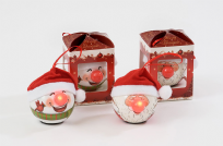 LED Santa & Snowman Baubles